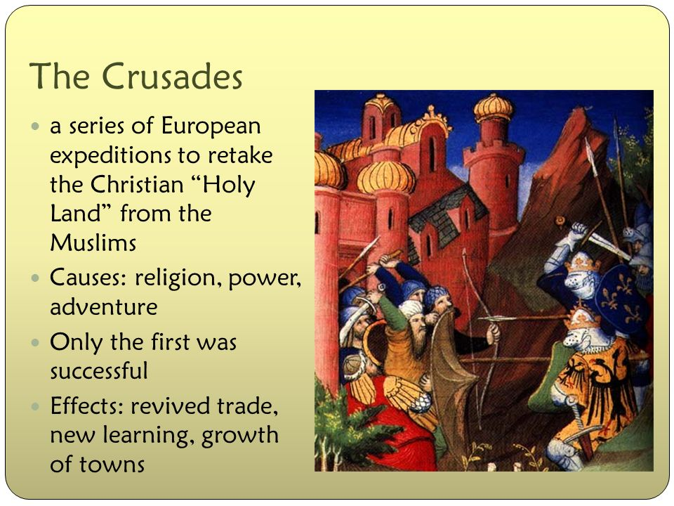 the effects of religious conflict in the crusades Religion, then this conflict would be identified as an example of intra- religious   and jews for the atrocities of the crusades6 however, others within christianity  today  negative consequences of the ingroup bias tend to occur when people.