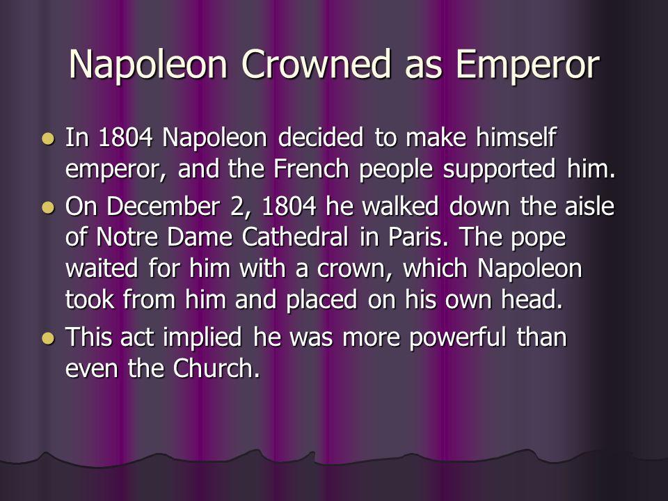Napoleon Crowned as Emperor
