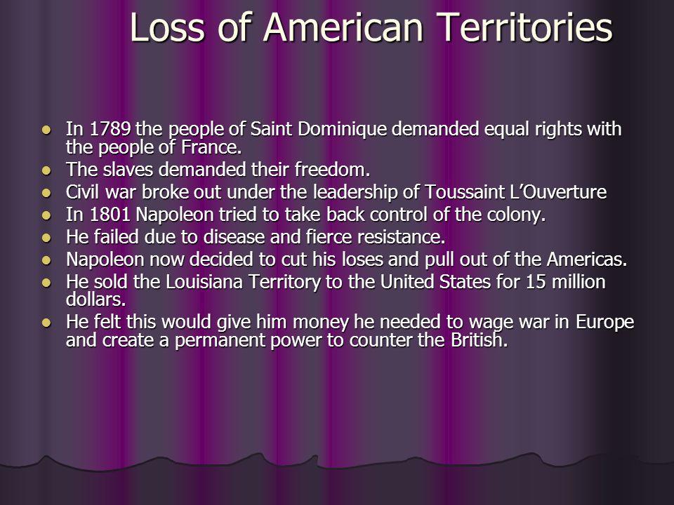 Loss of American Territories