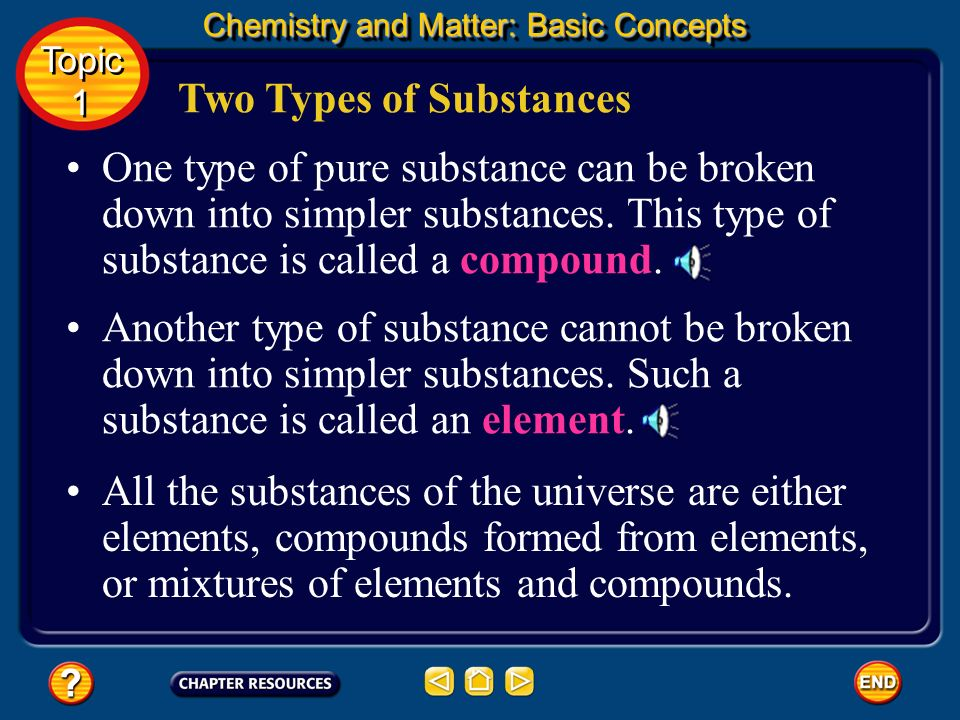 Two Types of Substances