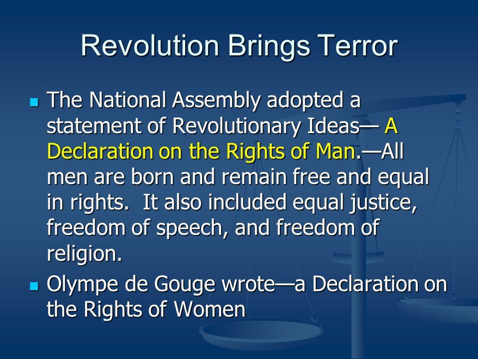Revolution Brings Terror