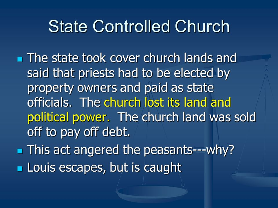 State Controlled Church