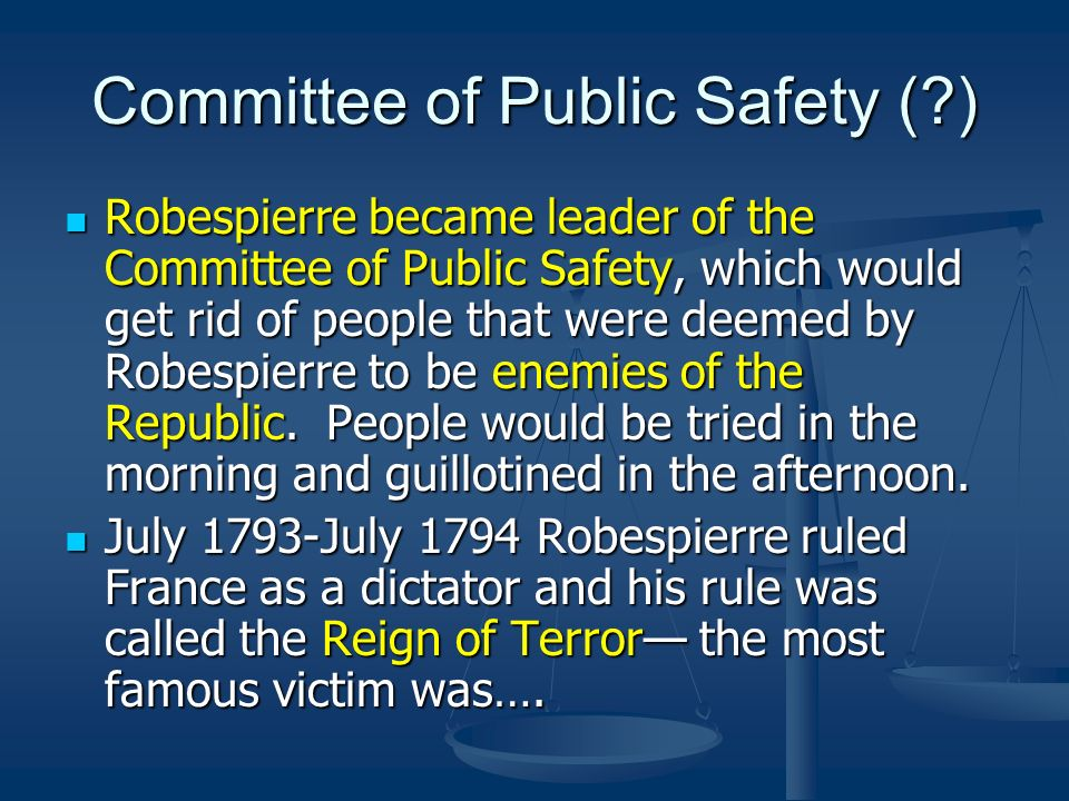 Committee of Public Safety ( )