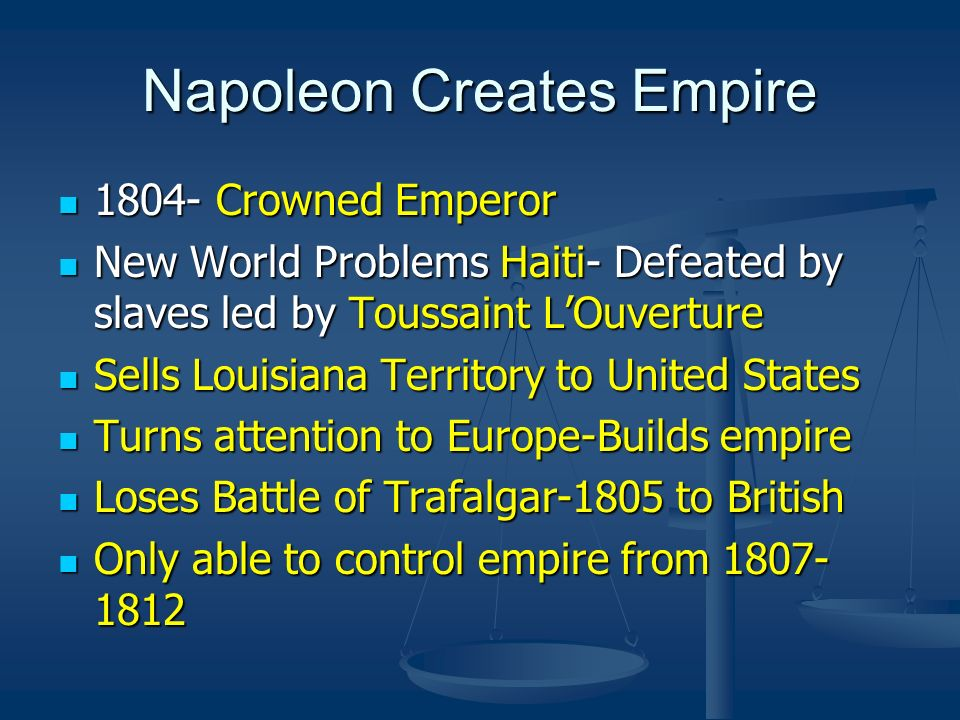 Napoleon Creates Empire