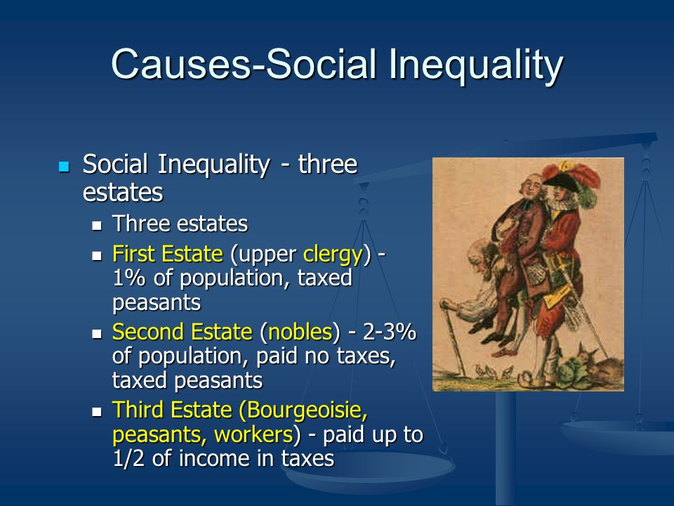 Causes-Social Inequality