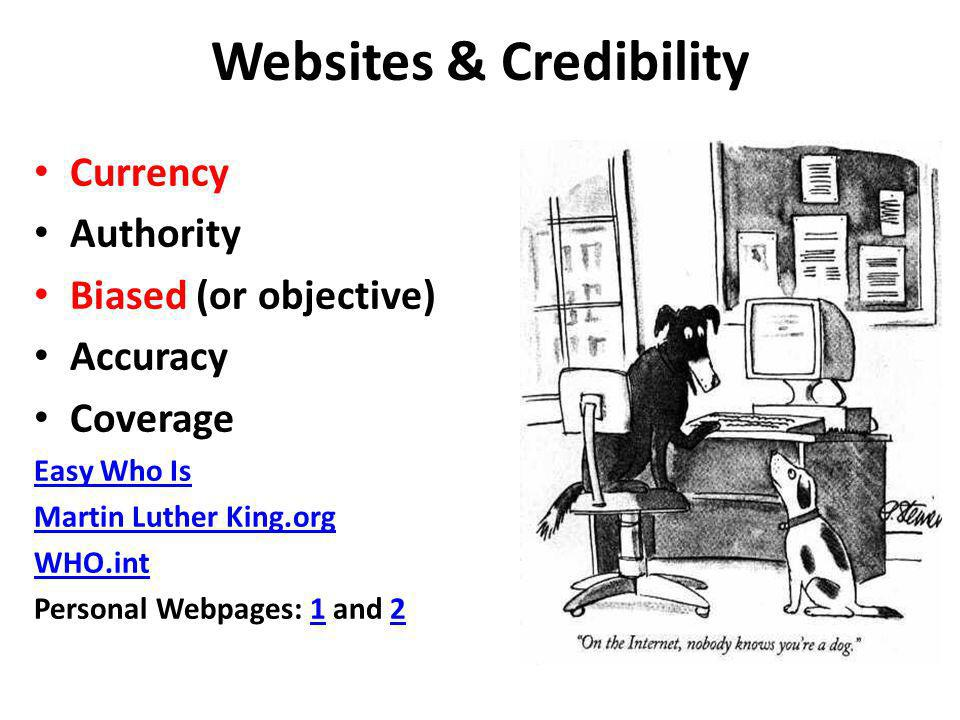 Websites & Credibility