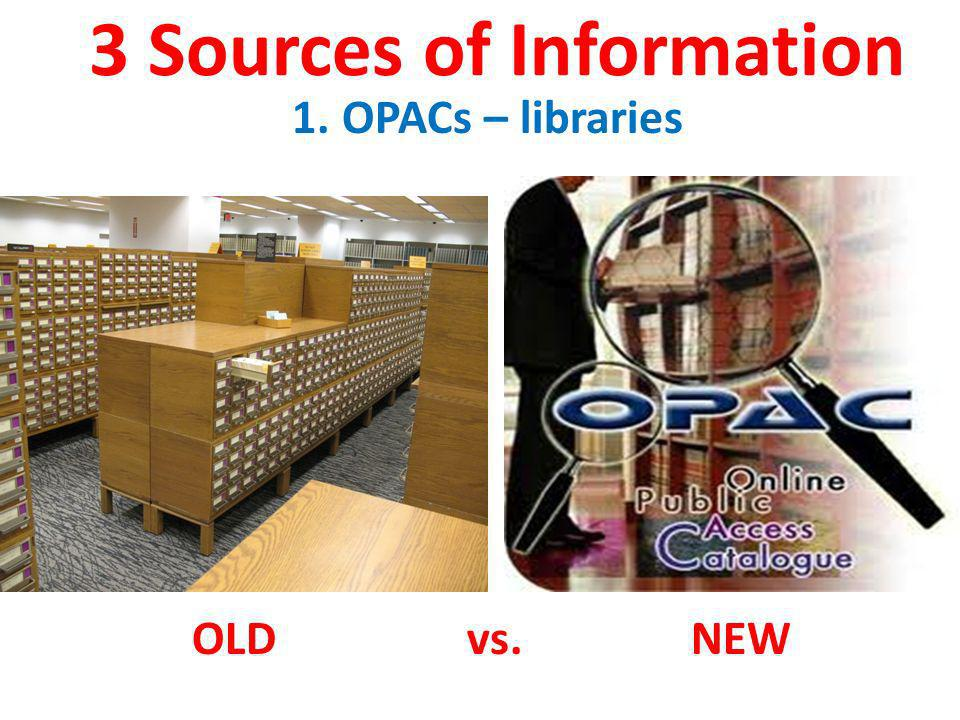 3 Sources of Information