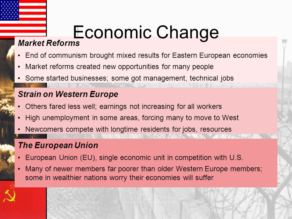 Economic Change Market Reforms Strain on Western Europe