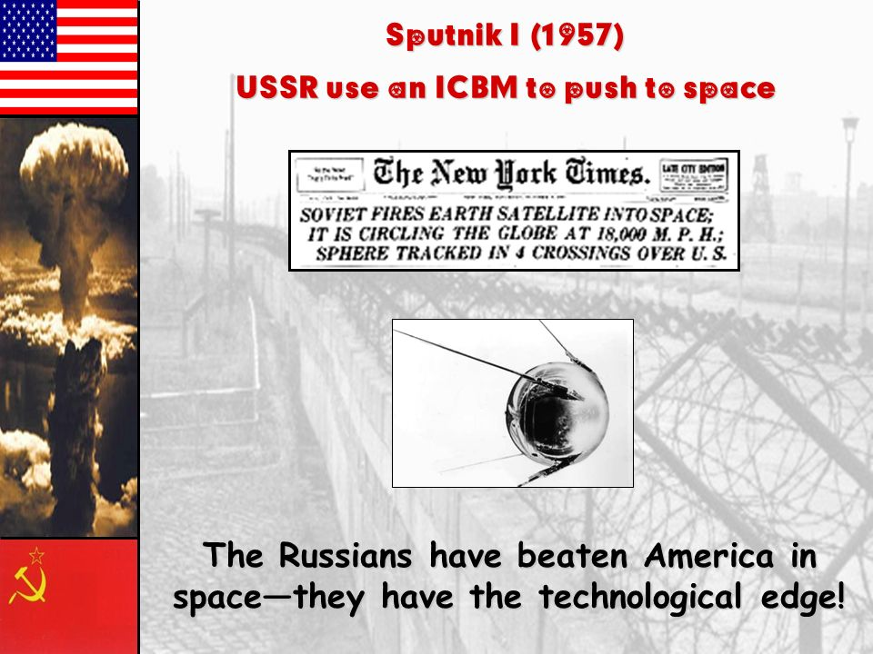 USSR use an ICBM to push to space