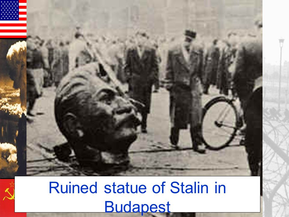 Ruined statue of Stalin in Budapest