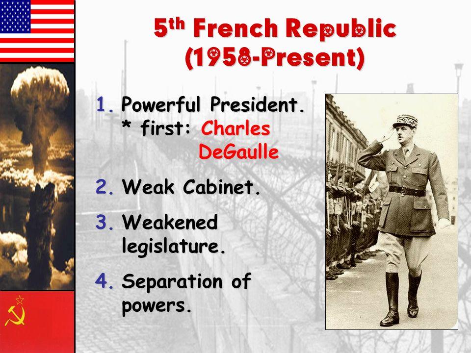 5th French Republic (1958-Present)