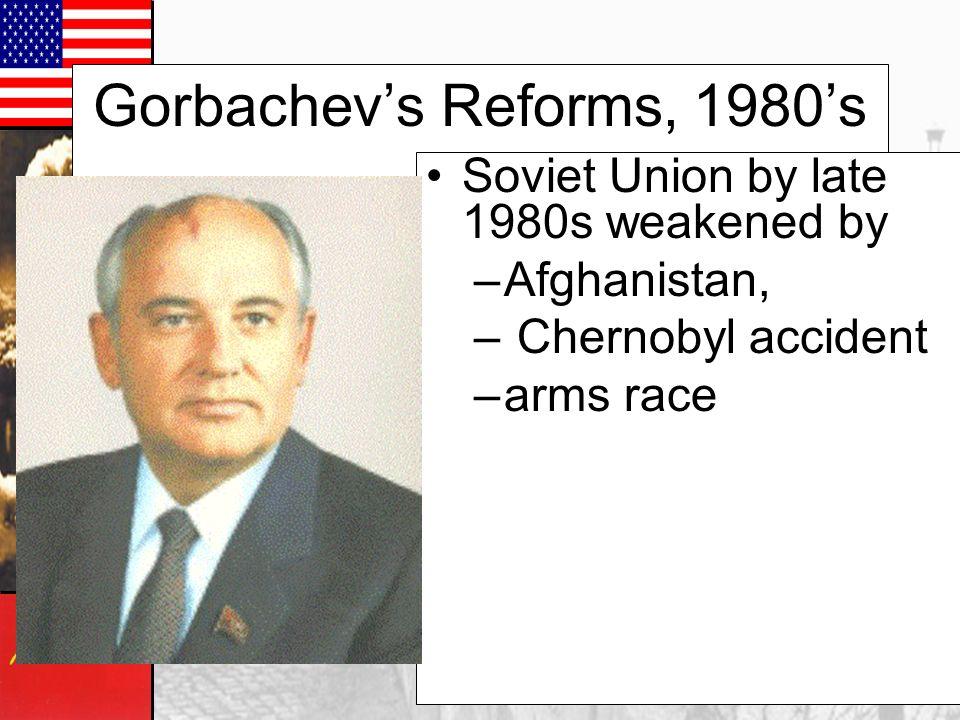 Gorbachev's Reforms, 1980's