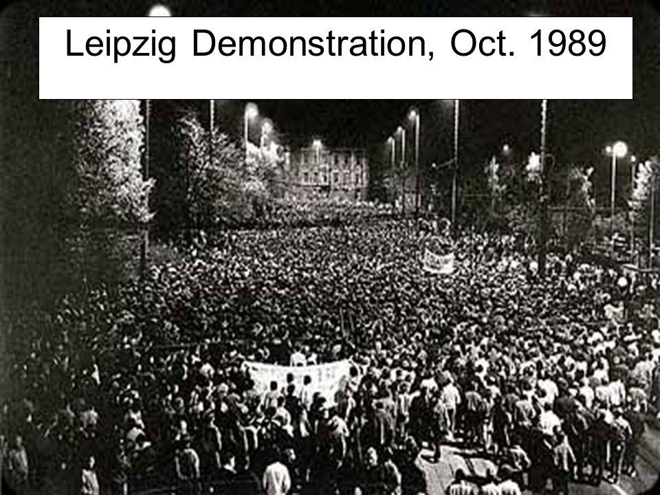 Leipzig Demonstration, Oct. 1989