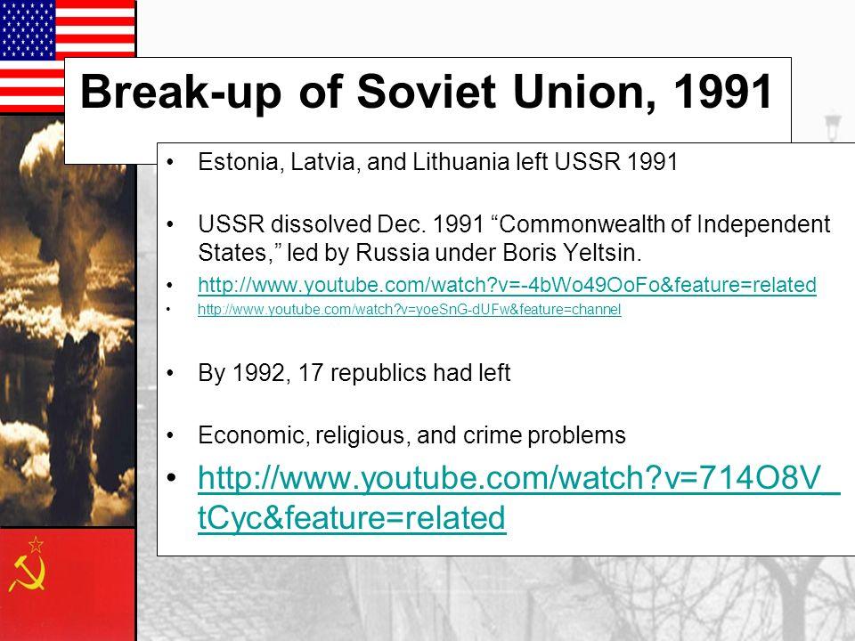 Break-up of Soviet Union, 1991