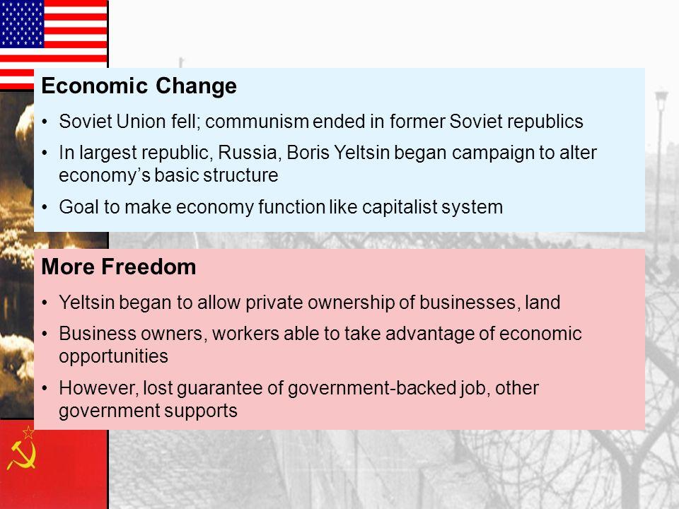 Economic Change More Freedom