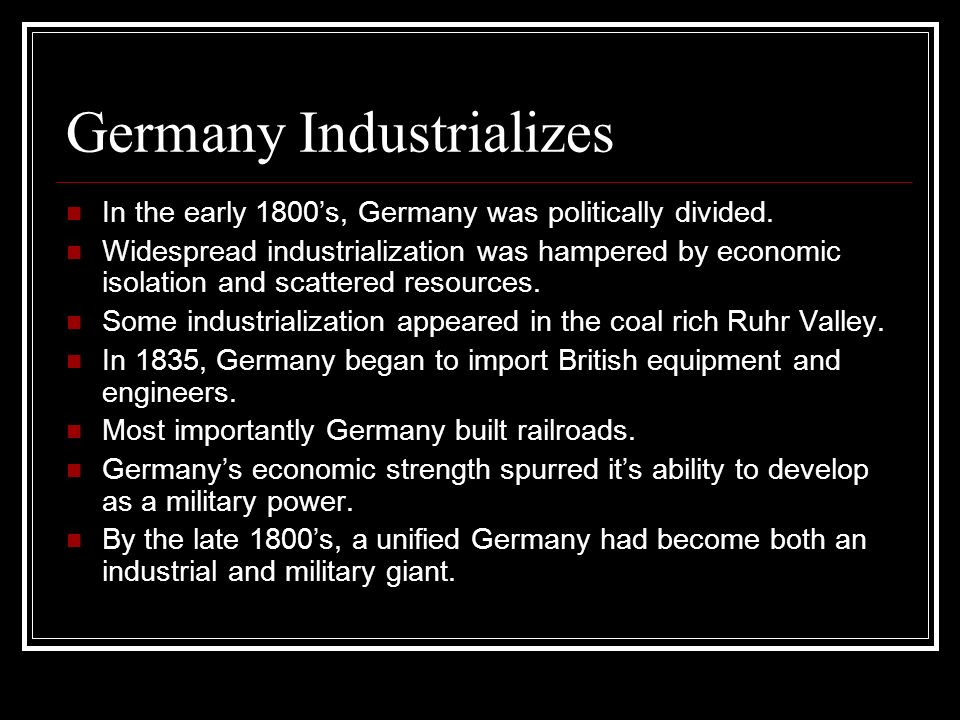 Germany Industrializes