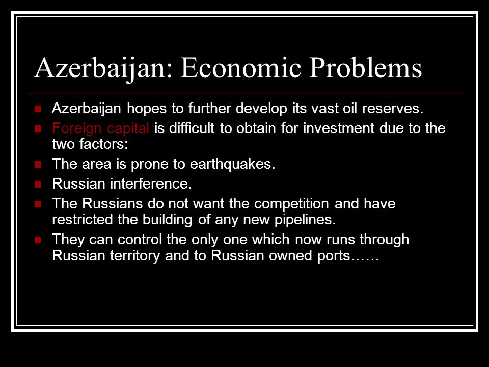 Azerbaijan: Economic Problems