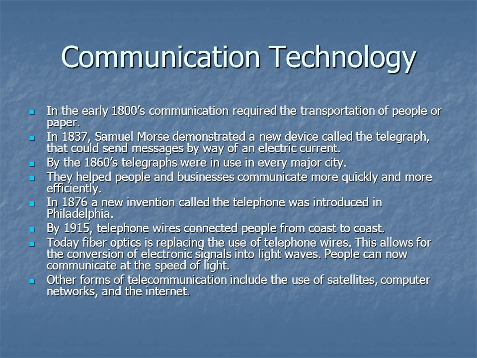 Communication Technology