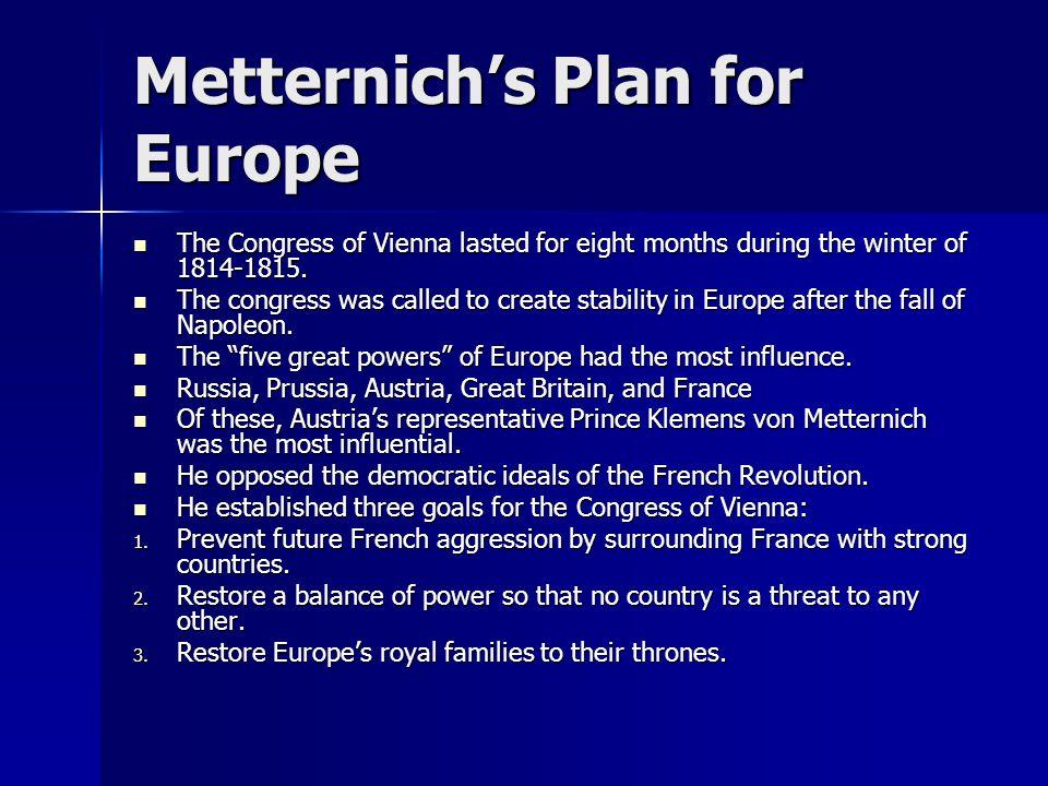 Metternich's Plan for Europe
