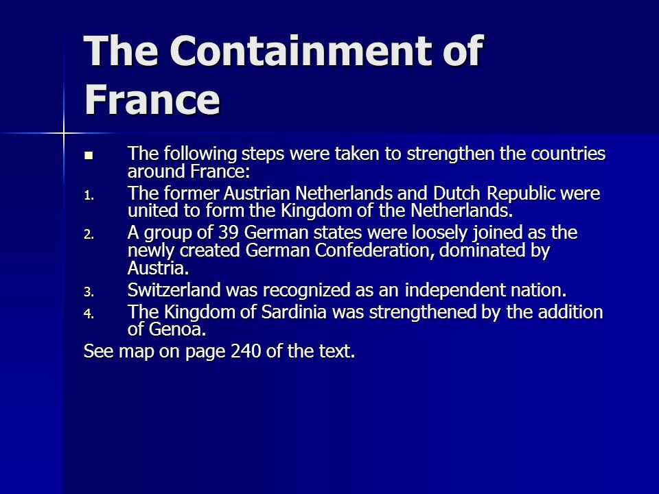 The Containment of France