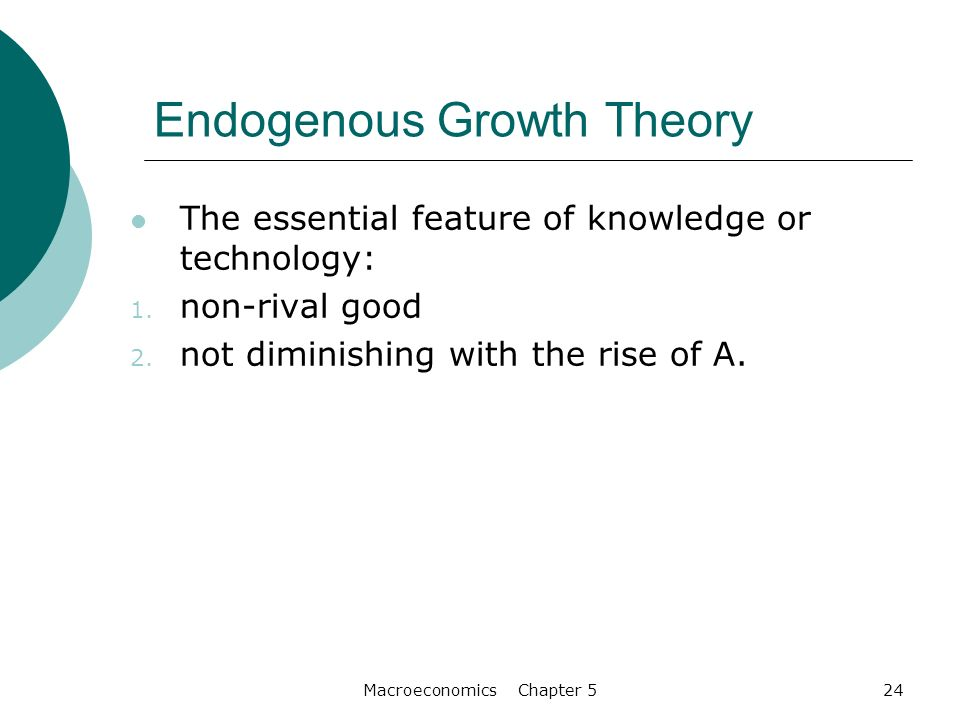 endogenous growth theory The new endogenous growth theory: an investigation on growth policy for developing countries augusto m c sena raimundo eduardo s fontenele.