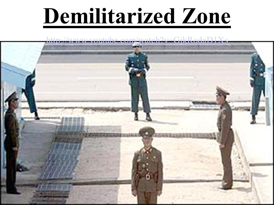 Demilitarized Zone http://www.youtube.com/watch v=GjkRodaD1Xs