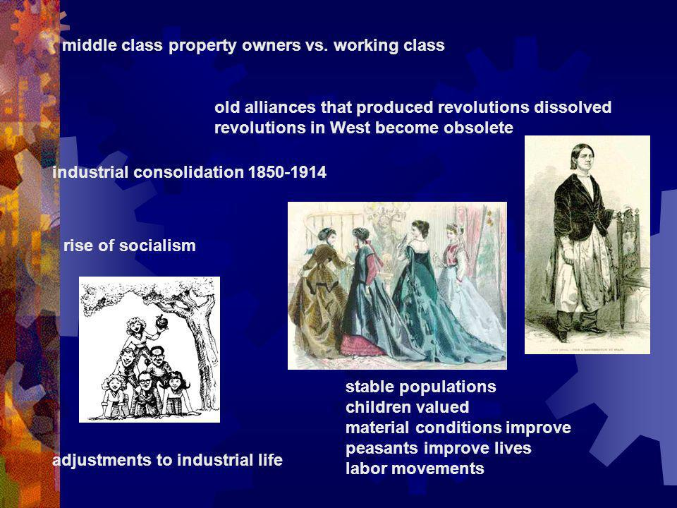 middle class property owners vs. working class