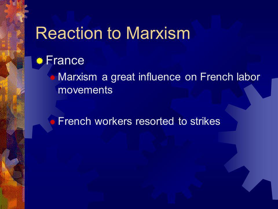 Reaction to Marxism France