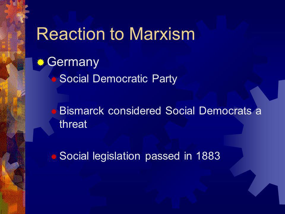 Reaction to Marxism Germany Social Democratic Party