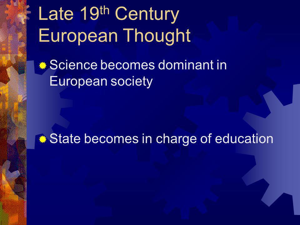 Late 19th Century European Thought