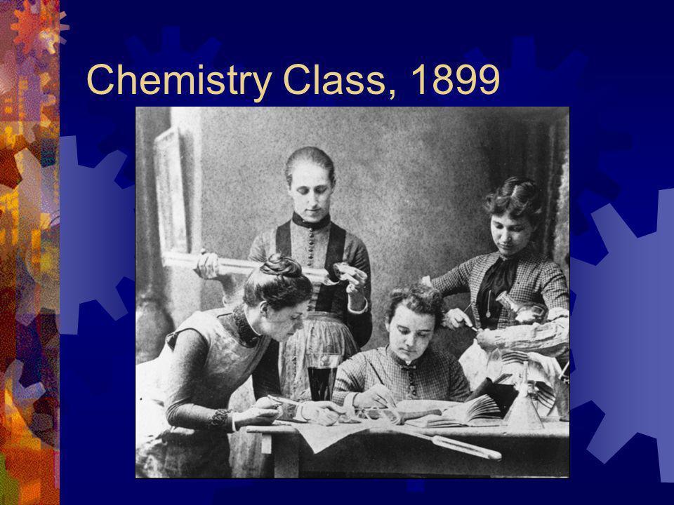 Chemistry Class, 1899