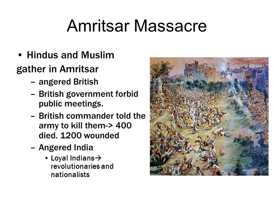 Amritsar Massacre Hindus and Muslim gather in Amritsar angered British