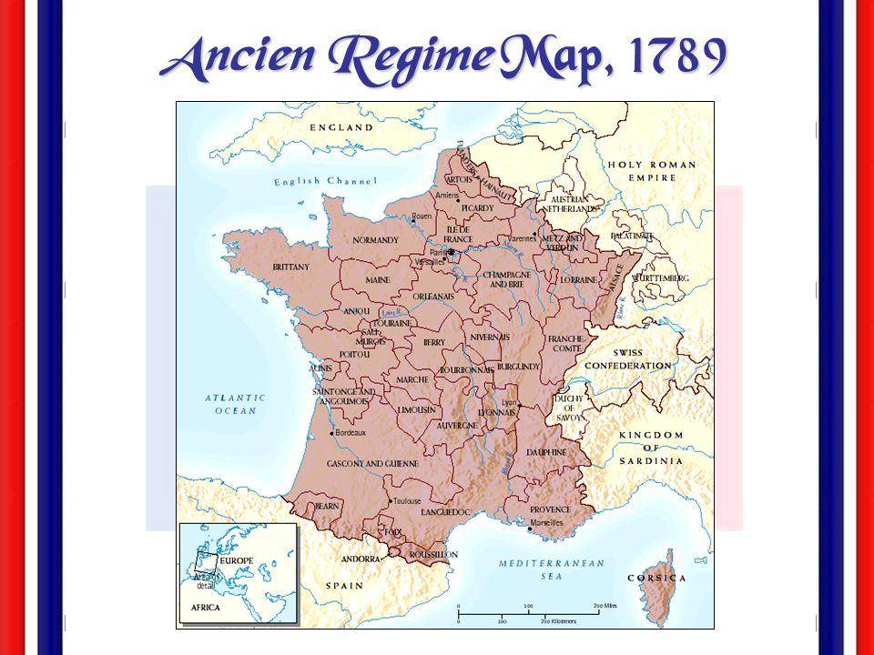 Ancien Regime Map, 1789
