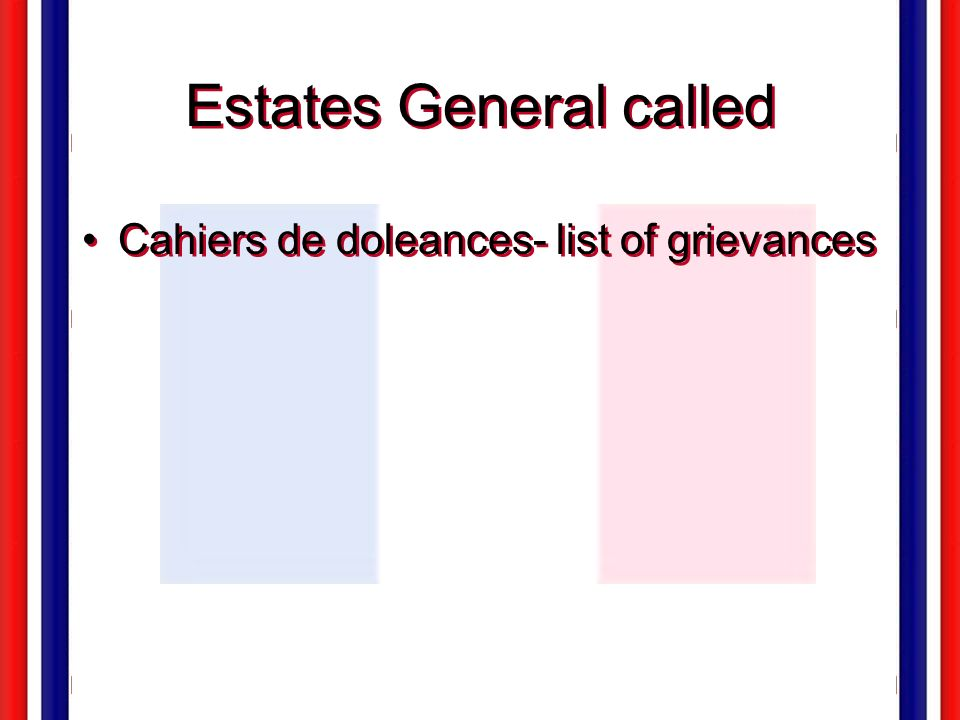 Estates General called