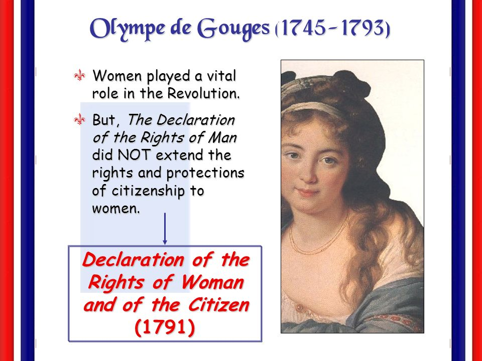 Declaration of the Rights of Woman and of the Citizen (1791)