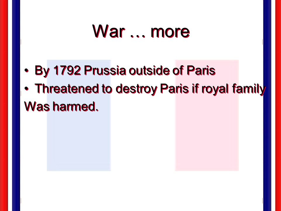 War … more By 1792 Prussia outside of Paris