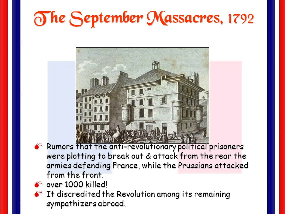 The September Massacres, 1792