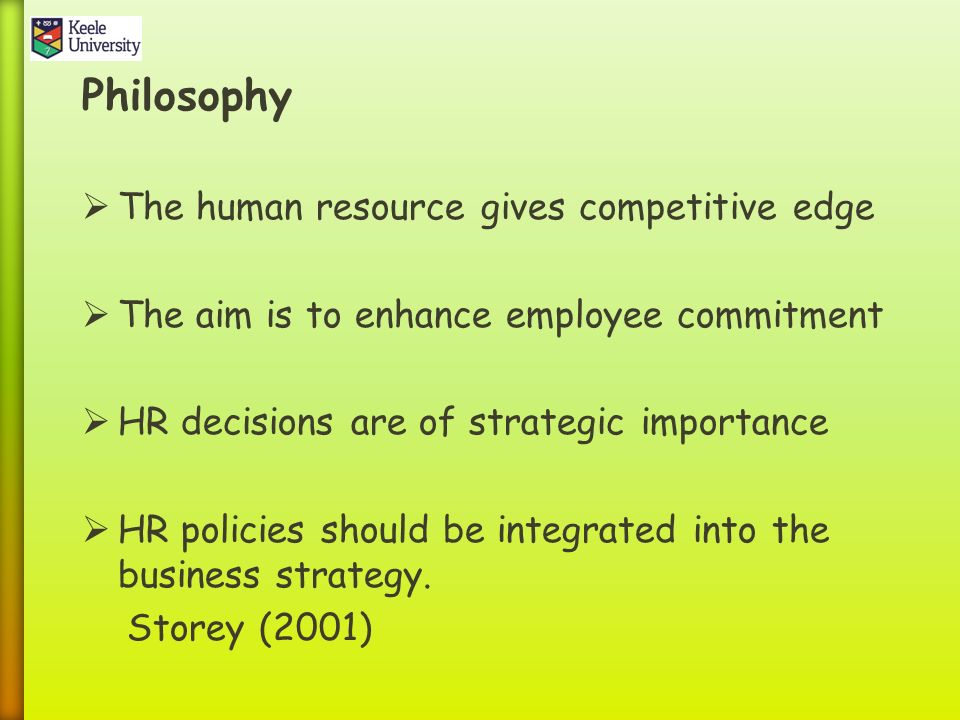 human resource theories and concepts