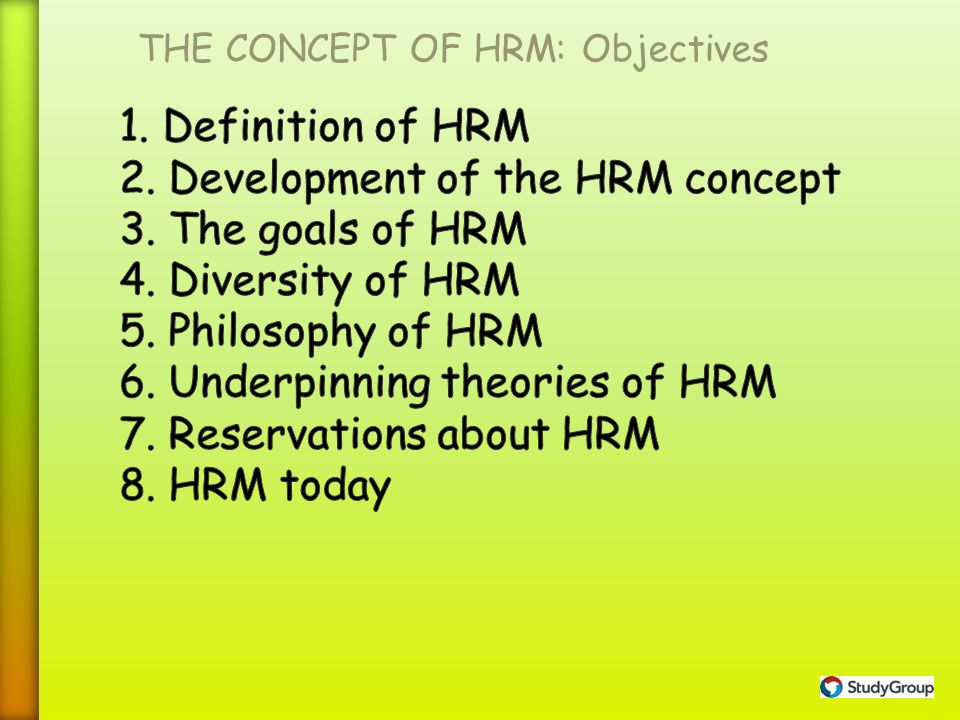 definition of hrm Definition of human resource management (hrm): the process of hiring and developing employees so that they become more valuable to the organization.