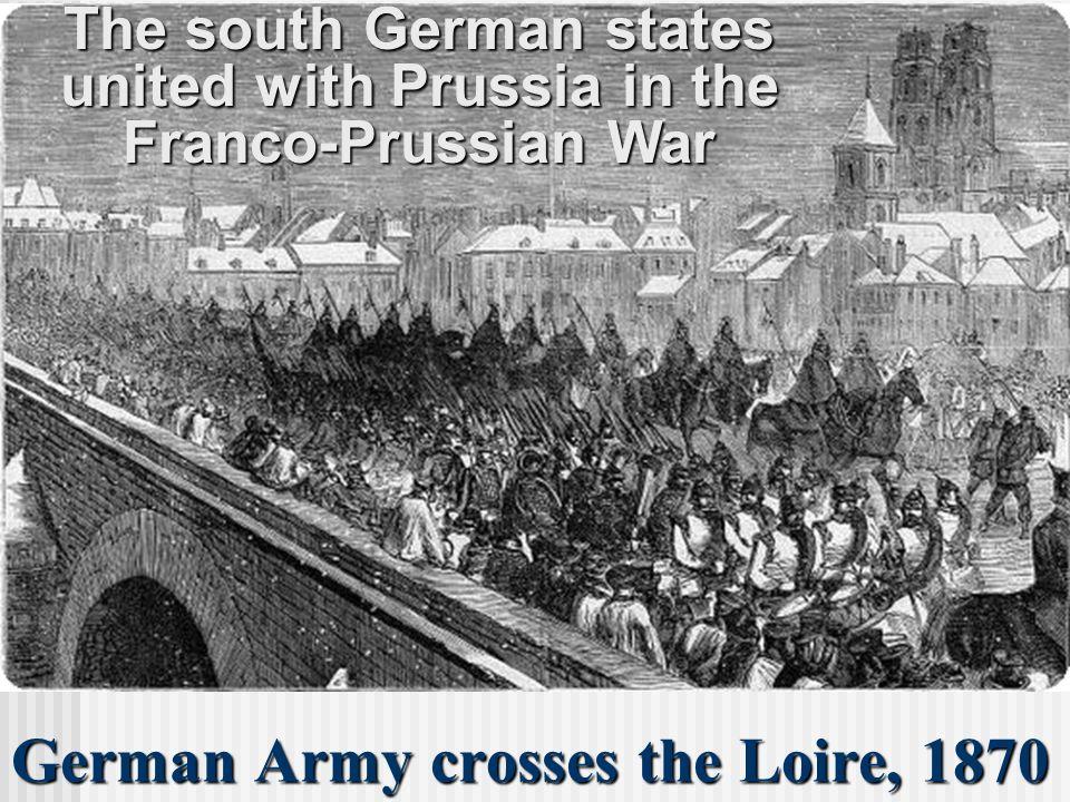 German Army crosses the Loire, 1870