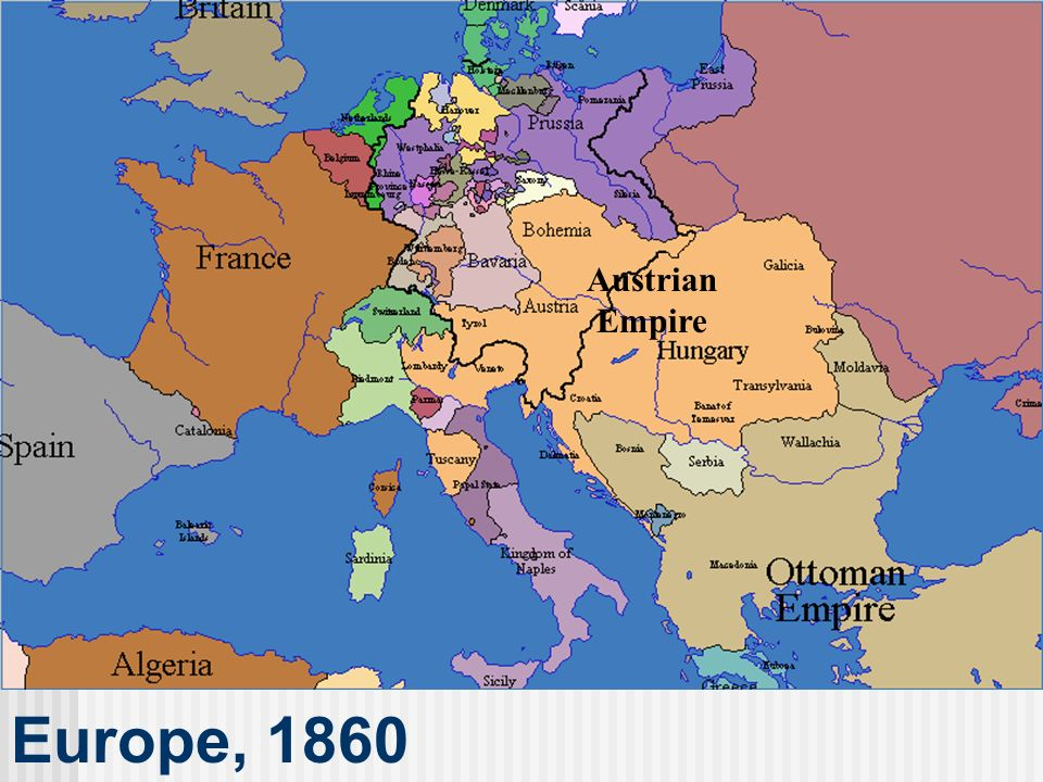 Austrian Empire Europe, 1860