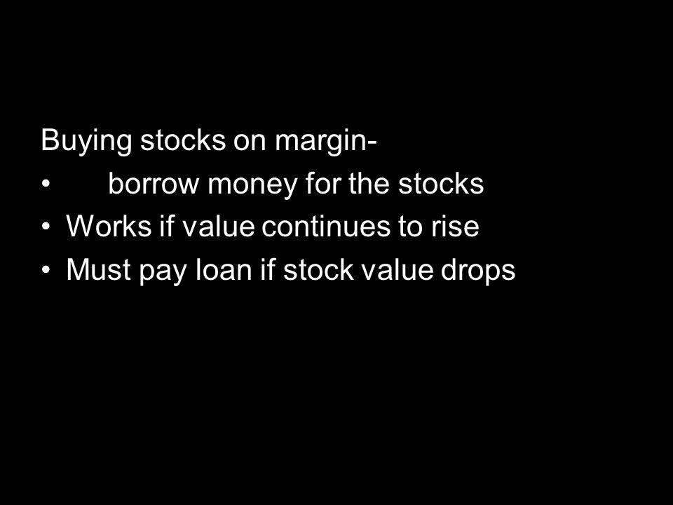 Buying stocks on margin-