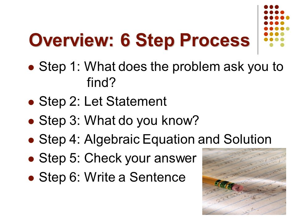 Overview: 6 Step Process