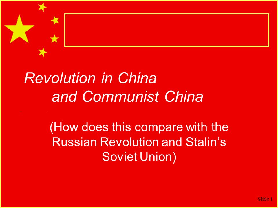Revolution in China and Communist China