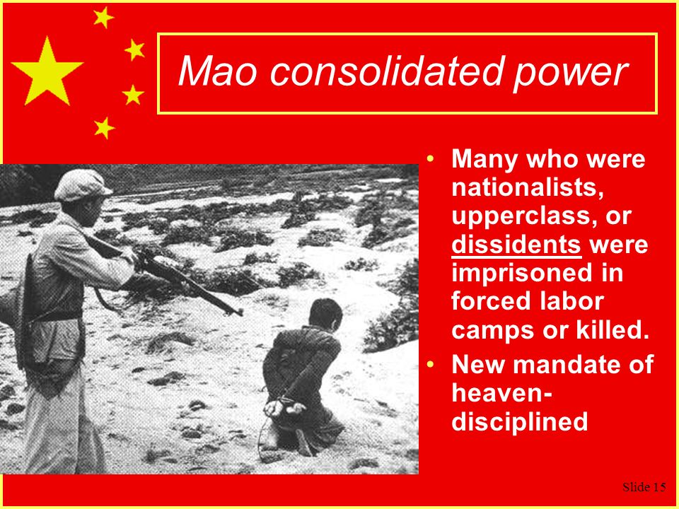 Mao consolidated power