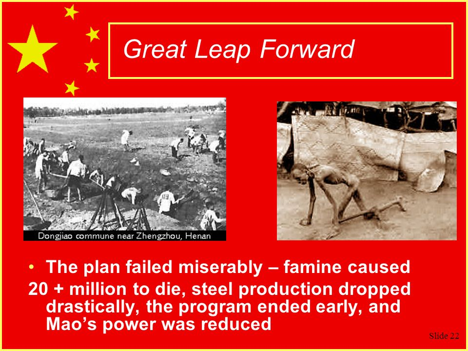Great Leap Forward The plan failed miserably – famine caused
