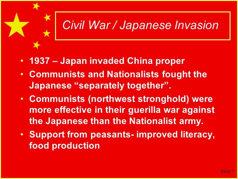 Civil War / Japanese Invasion