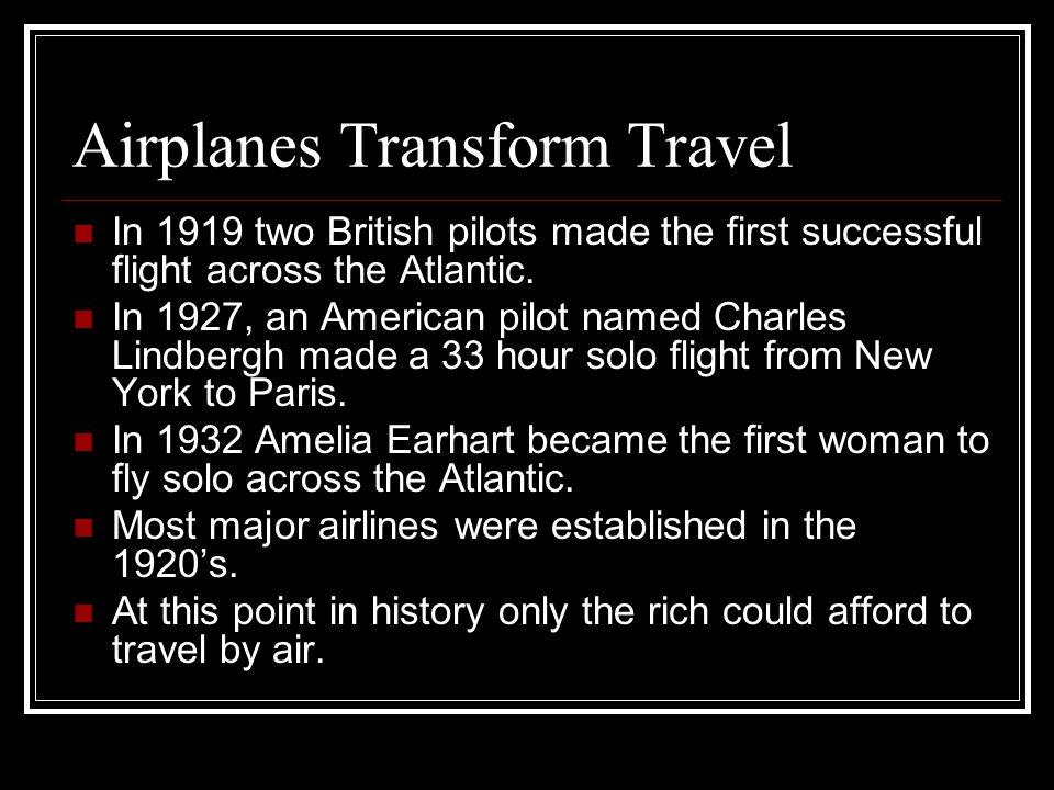 Airplanes Transform Travel