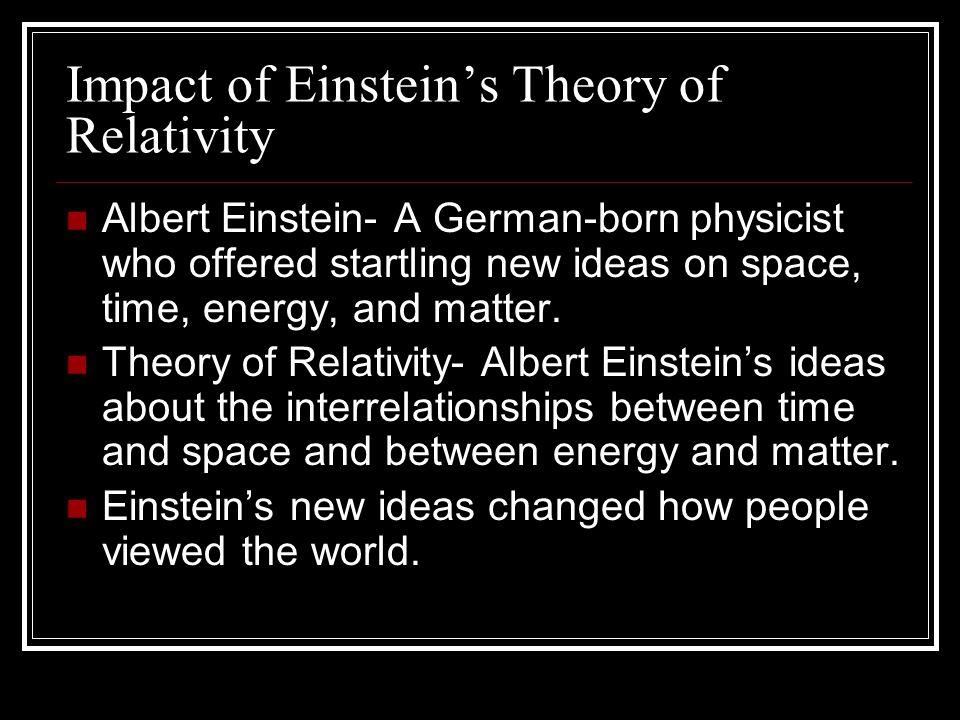 Impact of Einstein's Theory of Relativity