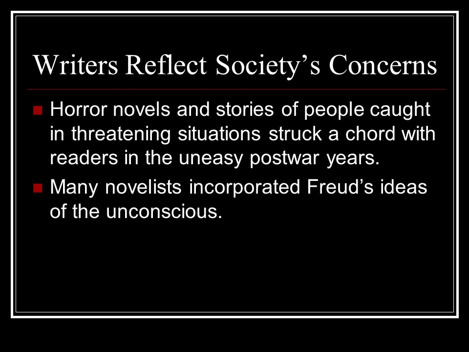 Writers Reflect Society's Concerns